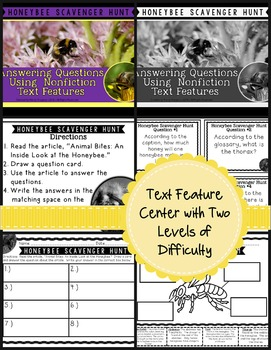 Teach Main Idea and Text Features with an Informational Article (Honeybee)