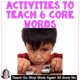 AAC Core Vocabulary Activities and  Strategies Go Stop No