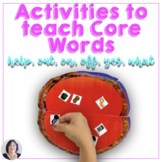 AAC Core Vocabulary Activities and Games for Teaching Help