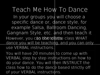 Teach Me How To Dance  Informational Text