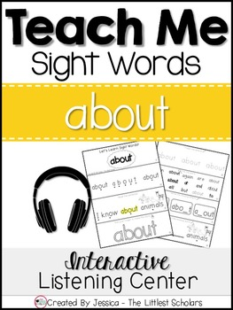 Teach Me Sight Words: ABOUT [Interactive Center with Printables and Audio]