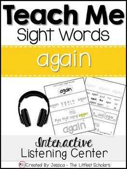Teach Me Sight Words: AGAIN [Interactive Center with Print