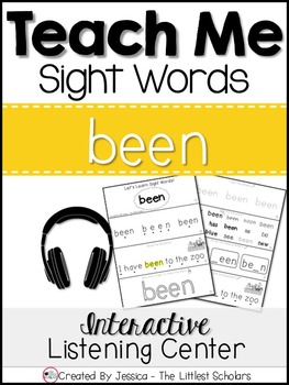 Teach Me Sight Words: BEEN [Interactive Center with Printables and Audio]
