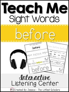 Teach Me Sight Words: BEFORE [Interactive Center with Prin
