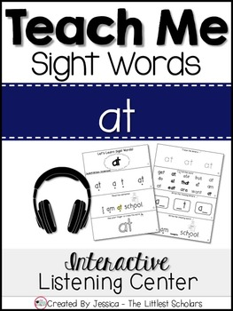 Teach Me Sight Words: AT [Interactive Center with Printables and Audio]