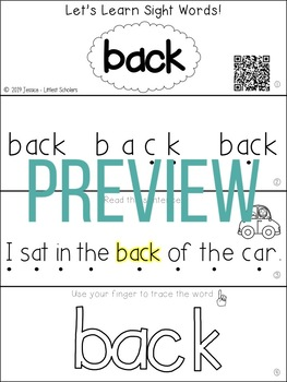 Teach Me Sight Words: BACK [Interactive Center with Printables and Audio]