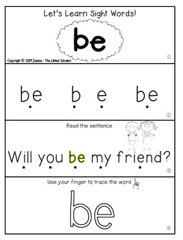 Teach Me Sight Words: BE [Interactive Center with Printables and Audio]