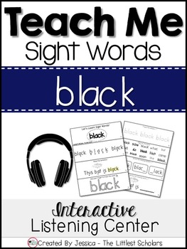 Teach Me Sight Words: BLACK [Interactive Center with Printables and Audio]