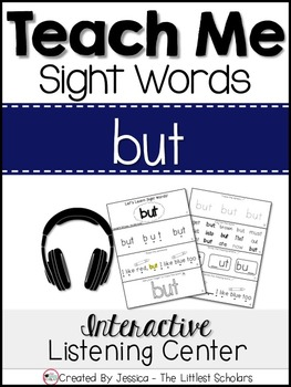 Teach Me Sight Words: BUT [Interactive Center with Printab