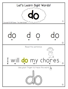 Teach Me Sight Words: DO [Interactive Center with Printables and Audio]