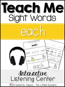 Teach Me Sight Words: EACH [Interactive Center with Printables and Audio]