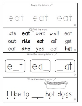 Teach Me Sight Words: EAT [Interactive Center with Printables and Audio]