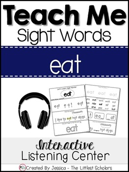 Teach Me Sight Words: EAT [Interactive Center with Printab
