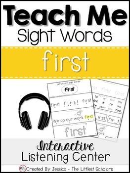 Teach Me Sight Words: FIRST [Interactive Center with Print