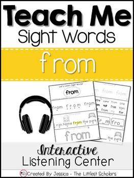 Teach Me Sight Words: FROM [Interactive Center with Printa