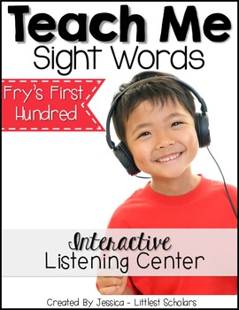 Teach Me Sight Words: Fry's First 100 BUNDLE Part 3 of 4 [Printables & Audio]