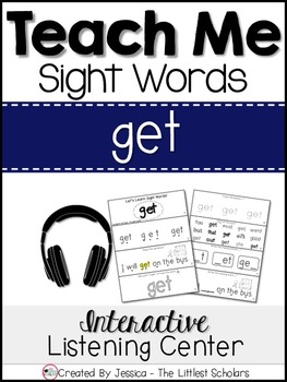 Teach Me Sight Words: GET [Interactive Center with Printab