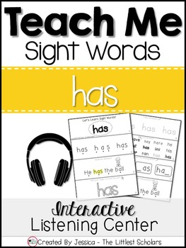 Teach Me Sight Words: HAS [Interactive Center with Printab