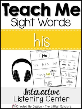 Teach Me Sight Words: HIS [Interactive Center with Printables and Audio]