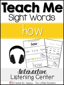 Teach Me Sight Words: HOW [Interactive Center with Printables and Audio]