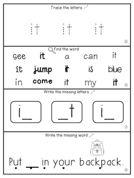 Teach Me Sight Words: IT [Interactive Center with Printables and Audio]