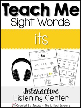 Teach Me Sight Words: ITS [Interactive Center with Printables and Audio]