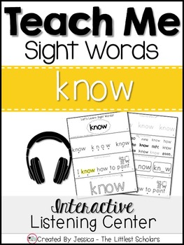 Teach Me Sight Words: KNOW [Interactive Center with Printables and Audio]