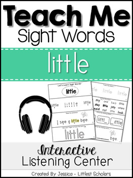 Teach Me Sight Words: LITTLE [Interactive Center with Printables and Audio]