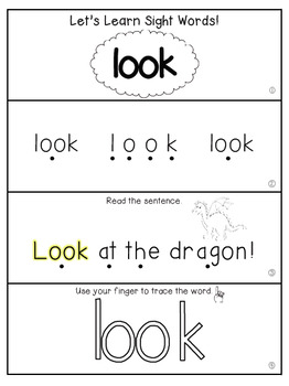 Teach Me Sight Words: LOOK [Interactive Center with Printables and Audio]