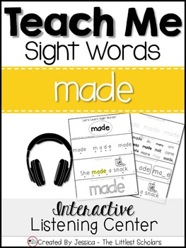 Teach Me Sight Words: MADE [Interactive Center with Printa