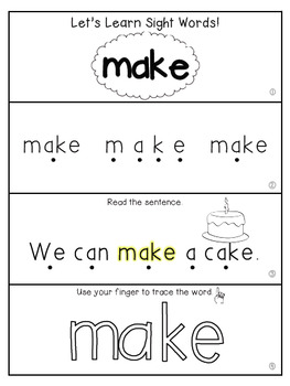 Teach Me Sight Words: MAKE [Interactive Center with Printables and Audio]