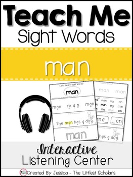 Teach Me Sight Words: MAN [Interactive Center with Printables and Audio]