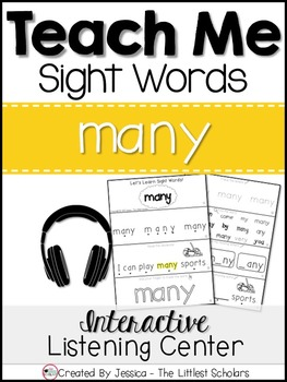 Teach Me Sight Words: MANY [Interactive Center with Printables and Audio]