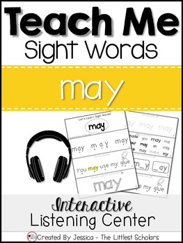 Teach Me Sight Words: MAY [Interactive Center with Printables and Audio]