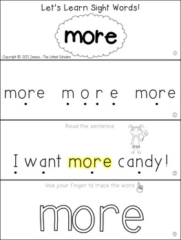 Teach Me Sight Words: MORE [Interactive Center with Printables and Audio]