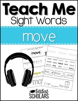 Teach Me Sight Words: MOVE [Interactive Center with Printables and Audio]