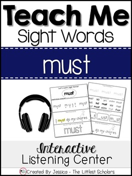 Teach Me Sight Words: MUST [Interactive Center with Printables and Audio]