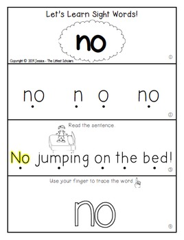 Teach Me Sight Words: NO [Interactive Center with Printables and Audio]
