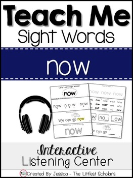 Teach Me Sight Words: NOW [Interactive Center with Printab