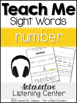 Teach Me Sight Words: NUMBER [Interactive Center with Prin