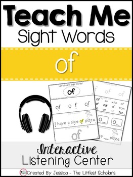 Teach Me Sight Words: OF [Interactive Center with Printables and Audio]