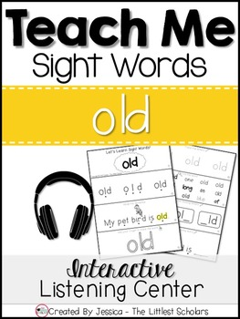 Teach Me Sight Words: OLD [Interactive Center with Printables and Audio]