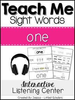 Teach Me Sight Words: ONE [Interactive Center with Printab