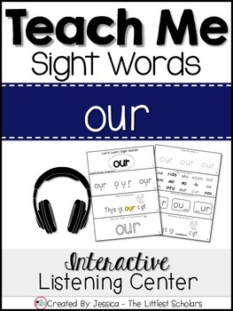 Teach Me Sight Words: OUR [Interactive Center with Printab