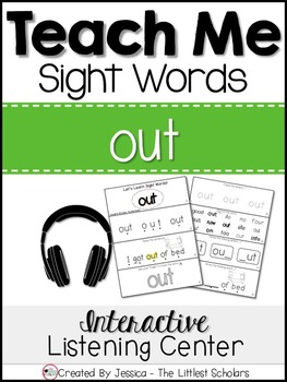 Teach Me Sight Words: OUT [Interactive Center with Printables and Audio]