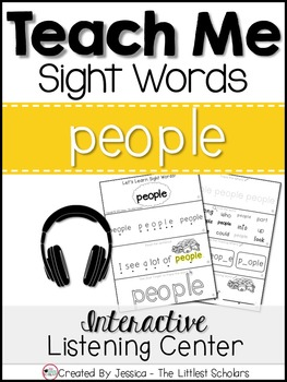 Teach Me Sight Words: PEOPLE [Interactive Center with Printables and Audio]
