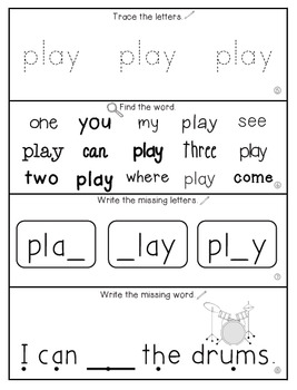 Teach Me Sight Words: PLAY [Interactive Center with Printables and Audio]