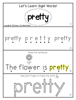 Teach Me Sight Words: PRETTY [Interactive Center with Printables and Audio]