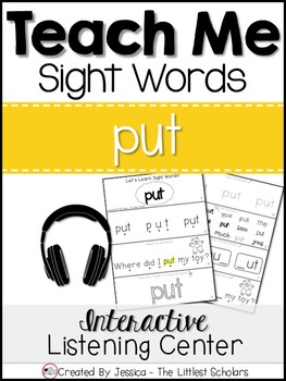 Teach Me Sight Words: PUT [Interactive Center with Printables and Audio]