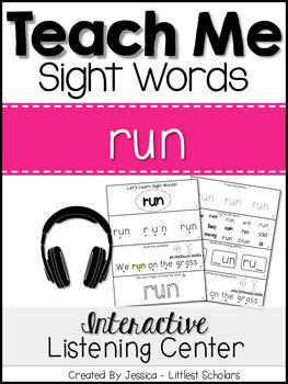 Teach Me Sight Words: RUN [Interactive Center with Printab